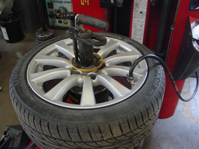 Step 9: Installing the tires